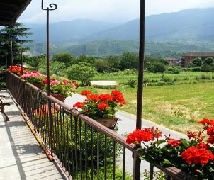 balcone del bed and breakfast
